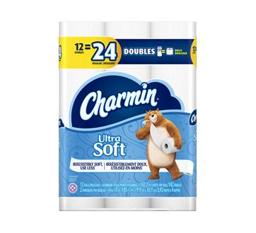 Ultra Soft papier hygiénique rouleaux double 142feuilles par rouleau, 12 unités