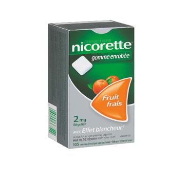Image 2 du produit Nicorette - Nicorette gomme, 105 unités, 2 mg, fruit frais
