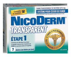 Image du produit Nicoderm - Nicoderm transparent timbres Étape 1 21 mg, 7 unités