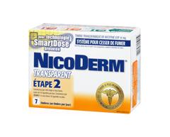 Image du produit Nicoderm - Nicoderm Transparent timbres étape 2 14 mg, 7 unités