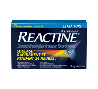 Reactine allergies extra fort, 48 unités