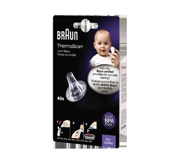 Image du produit Braun - ThermoScan filtres pour thermomètre auriculaire , 40 unités