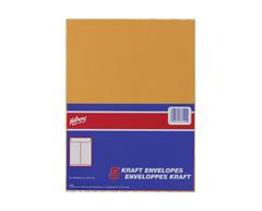 Image du produit Hilroy - Enveloppes en kraft 9 x 12 po, 5 unités