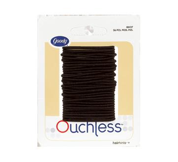 Ouchless petits élastiques fins, 36 unités, Noir