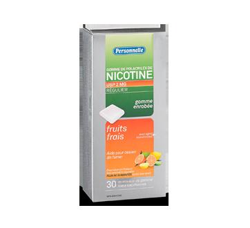Image du produit Personnelle - Gomme de polacrilex de nicotine, Régulier, 2 mg, 30 unités, fruits frais