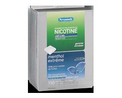 Image du produit Personnelle - Gomme de polacrilex de nicotine, régulier, 2 mg, 110 morceaux