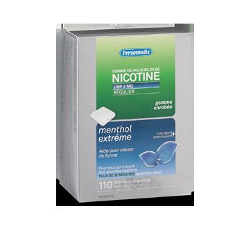 Image du produit Personnelle - Gomme de polacrilex de nicotine, régulier, 2 mg, 110 unités, menthe givrée