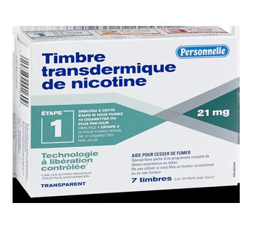 Image du produit Personnelle - Timbre transdermique de nicotine, 21 mg, étape 1, 7 unités