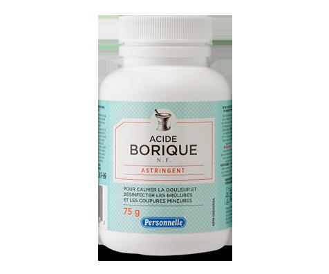 Acide borique, 75 g – Personnelle : Soins et santé   Jean