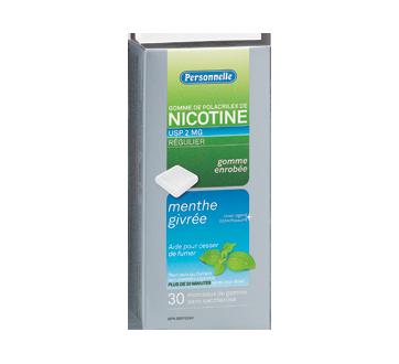 Image du produit Personnelle - Gomme de polacrilex de nicotine, régulier, 2 mg, 30 unités, menthe givrée