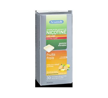 Image du produit Personnelle - Gomme de polacrilex de nicotine extra fort 4 mg, 30 unités, fruits frais
