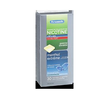 Image du produit Personnelle - Gomme de polacrilex de nicotine extra fort 4 mg, 30 unités, menthe givrée