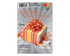 Image du produit Incomm - Vanilla MasterCard Bonne Fête prépayée de 50 $, 1 unité