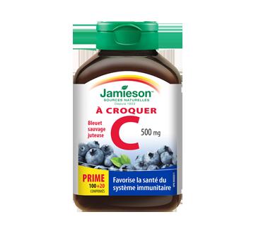 Image 1 du produit Jamieson - Vitamine C 500 mg  croquable, bleuets sauvages, 120 unités