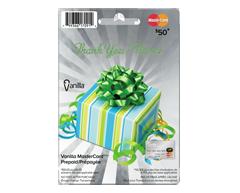 Image du produit Incomm - Vanilla MasterCard Merci prépayée de 50 $, 1 unité