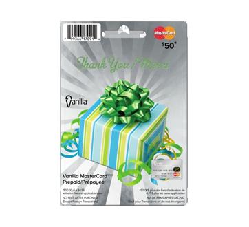 Vanilla Mastercard Merci carte prépayée de 50 $, 1 unité