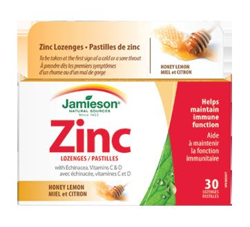 Image du produit Jamieson - Pastilles de zinc avec échinacée, vitamines C et D, 30 unités