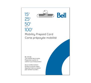 Cartes prépayées pour cellulaires Bell Mobilité de 100 $, 1 unité