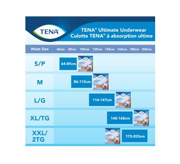 Image 4 du produit Tena - Ultimate culottes protectrices pour incontinence absorption, 14 unités, moyen