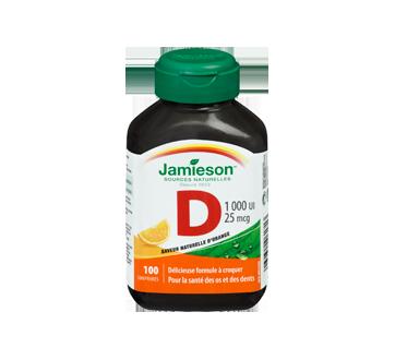 Image 3 du produit Jamieson - Vitamine D 1,000 ui croquable, orange, 100 unités