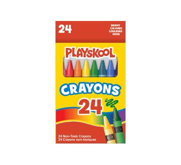 Crayons couleurs vives, 24 unités