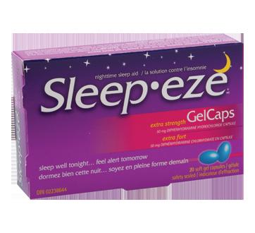 Image du produit Sleep-Eze - Sleep-Eze extra-fort gelcaps, 20 unités