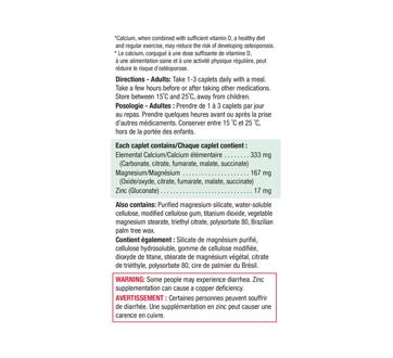 Image 3 du produit Jamieson - Calcium & magnésium + zinc, 100+100 unités