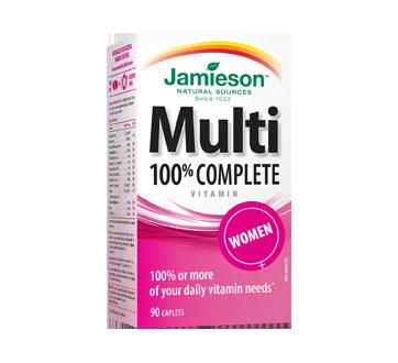 Image du produit Jamieson - Multivitamine complète à 100 % pour femmes, 90 unités