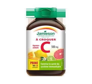 Image 1 du produit Jamieson - Vitamine C 500 mg  croquable, agrumes, 100+20 unités