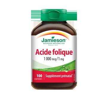Image du produit Jamieson - Acide folique 1,000 g/1 mg, 100 unités