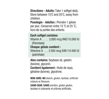 Image 2 du produit Jamieson - Vitamine A 10 000 UI, 100 unités