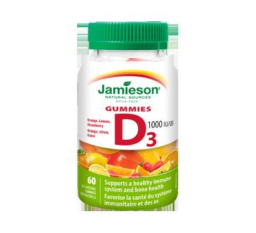 Image du produit Jamieson - Vitamine D gummies 1000 ui, 60 unités