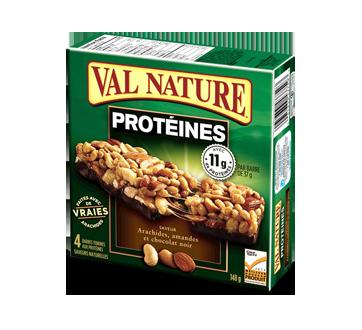 Barres protéines arachides amandes chocolat, 148 g