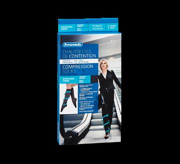 Image du produit Personnelle - Chaussettes de contention diaphanes, 1 unité, Femme, Noir, Grande