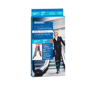 Image du produit Personnelle - Chaussettes de contention diaphanes, 1 unité, Femme, Chair, Moyenne