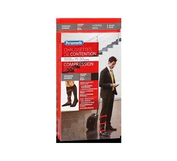 Image du produit Personnelle - Chaussettes de contention 15-20 mmHg opaques, 1 unité, noir-grand