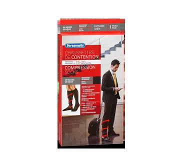 Image du produit Personnelle - Chaussettes de contention opaques, 1 unité, Homme, Noir, Moyenne
