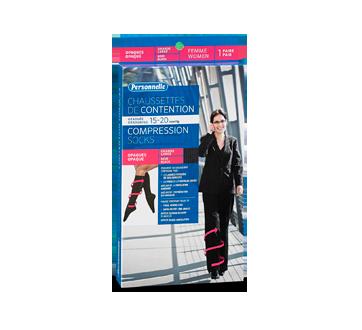 Image du produit Personnelle - Chaussettes de contention opaques, 1 unité, Femme, Noir, Grande