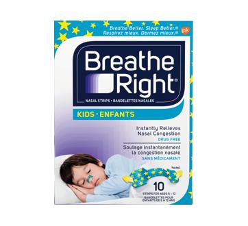 Image du produit Breathe Right - Bandelettes nasales pour enfants, 10 unités