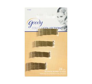 Colour Collection petite pince à cheveux métallique, 26 unités, blond
