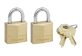 Vignette du produit Master Lock - Ensemble de cadenas à clé identique en laiton, 2 unités