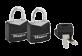 Vignette du produit Master Lock - Ensemble de cadenas à clé identique recouverts de vinyle, 2 unités, noir