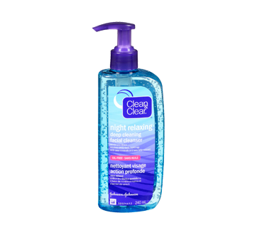 Night Relaxing nettoyant visage action profonde, 240 ml