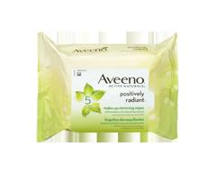 Image du produit Aveeno - Positively Radiant lingettes démaquillantes, 25 unités