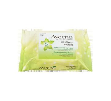 Image 4 du produit Aveeno - Positively Radiant lingettes démaquillantes, 25 unités