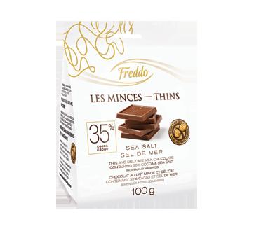 Les Minces chocolat au lait, 100 g, sel de mer
