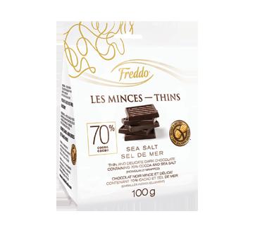 Les Minces chocolat noir, 100 g, sel de mer
