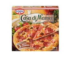 Image du produit Dr. Oetker - Casa Di Mama pizza surgelée, 395 g, 3 viandes