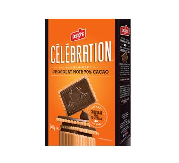 Biscuits au beurre avec tablette de chocolat noir 70% cacao, 240 g