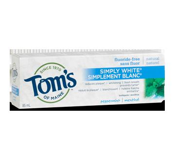 Simplement Blanc dentifrice sans fluor, 85 ml, menthol